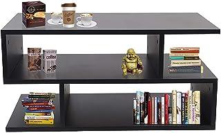 Klaxon S Shape Engineered Wood Coffee Table/Centre Table, Tea Table (Black)