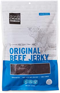 People's Choice Beef Jerky - Classic - Original - Big Slab - Whole Muscle Premium Cuts - Bulk Jerky Package - Thin Sheets ...