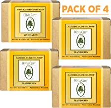 Olivia Care Premium Mandarin Bath & Body Bar Soap Organic, Vegan & Natural  Olive Oil  Repairs, Hydrates, Moisturizes & Deep Cleans Vitamin C Good for Sensitive Dry Skin  Made in USA 8 OZ – (4 PACK)