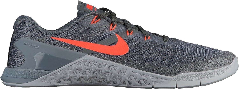 Nike Metcon 3 Dark grå  Hyper Crimson  Wolf Wolf Wolf grå Mens Cross Training skor  med 100% kvalitet och% 100 service