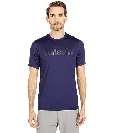 Hurley One Only Short Sleeve Surf Shirt (Obsidian) Men
