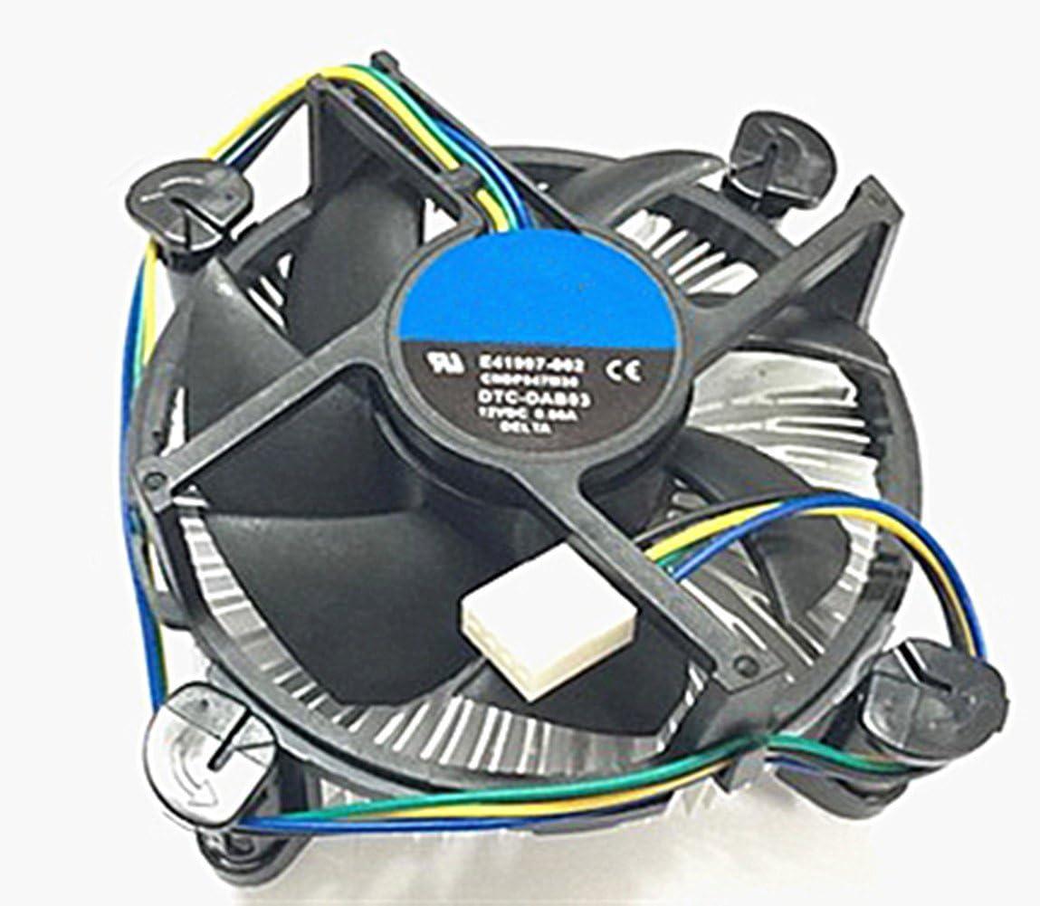 Core i3/i5/i7 Socket 1150/1155/1156 Conector de 4 pines Refrigerador de CPU con disipador de calor de aluminio y ventilador de 3.5 pulgadas para PC de escritorio
