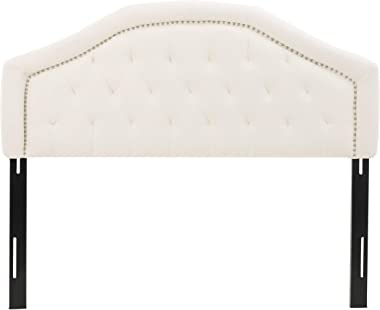Christopher Knight Home Killian Fabric Headboard, Queen / Full, Ivory