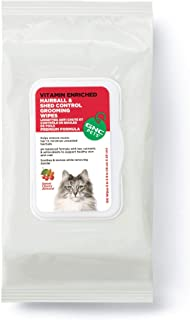 GNC Pets Hairball Shed Control Grooming Wipes- Sweet Cherry Almond