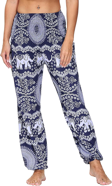 Women's Drawstrings Casual Harem Pants Lightweight Fashion Yoga Pants Bloomers Cargo Capri Harem Pant with Pockets