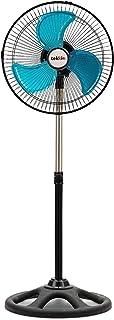 Tekkio - Ventilador de Pie Industrial. 45W y 30Cm. Oscilante, Movimiento Giratorio con 3 velocidades. Altura Regulable.