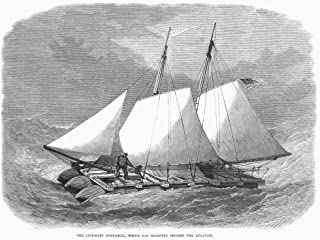 Life-Raft Nonpareil 1867 Nthe American Pontoon Raft NNonpareil Which A Crew Of 3 Brought From Southampton England To New Y...