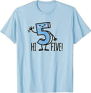Funny Hi Five! High hand Hello / wave number 5 kids T-Shirt