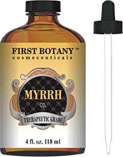 Myrrh Oil 4 fl. oz. with a Glass Dropper -Premium Quality & Therapeutic Grade - Ideal for Aromatherapy, Massages and Maint...