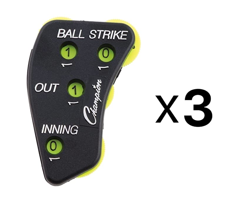 Champion Sports 4 Wheel Optic Yellow Call Order Umpire Indicator - PI4 (3-Pack)