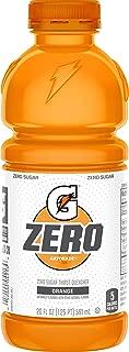 Gatorade Zero Sugar Thirst Quencher, Orange, 20 Fl Oz (Pack of 12)