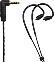 LK-M HiFi 3.5mm (L-Shaped Plugs) Male to Shure SE215 SE315 SE425 SE535 SE846 etc.(MMCX Connection), Replacement Earphone Cable Audio Upgrade Cable. (4.92ft (1.5M))