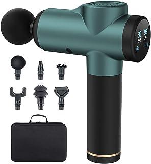 Pistolet de Massage Musculaire, LofamyMassage Gun Portable, 30 Vitesses Réglables, 6 Têtes de Massage et Ecran LED, Ultra...