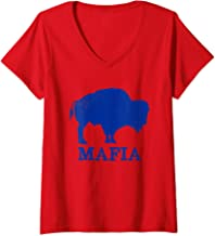 Womens Bills Mafia 716 Buffalo New York BFLO WNY T-Shirt V-Neck T-Shirt