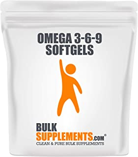Bulksupplements Omega 3-6-9 Softgels (1200 mg) (300 Count)