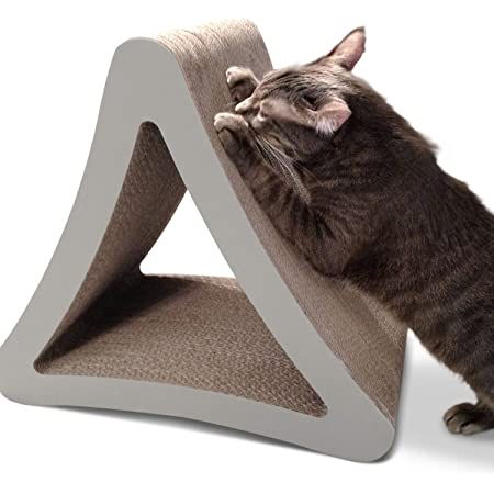 PetFusion 3-Sided Vertical Cat Scratching Post (Avail in 2 Sizes). [Multiple Scratching Angles to Match Your Cat's Preference]