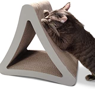 PetFusion 3-Sided Vertical Cat Scratching Post (46x27x41 cm). [Multiple Scratching Angles to Match Your Cat's Preference]