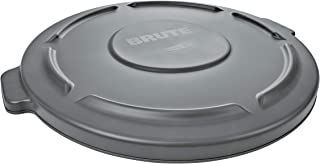 Rubbermaid Commercial 263100GY Round Flat Top Lid, for 32-Gallon Round Brute Containers, 22 1/4