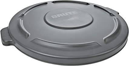 Rubbermaid Commercial Products BRUTE Heavy-Duty Round Waste/Utility Lid for 20-Gallon Container, Gray (6 Pack) (FG261960GRAY)