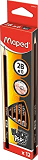 Maped 850021 Hb Black'Peps Graphite Pencils (Pack Of 12)