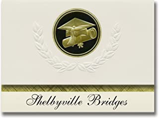 Signature Announcements Shelbyville Bridges (Shelbyville, IL) Graduation Announcements, Presidential style, Elite package ...