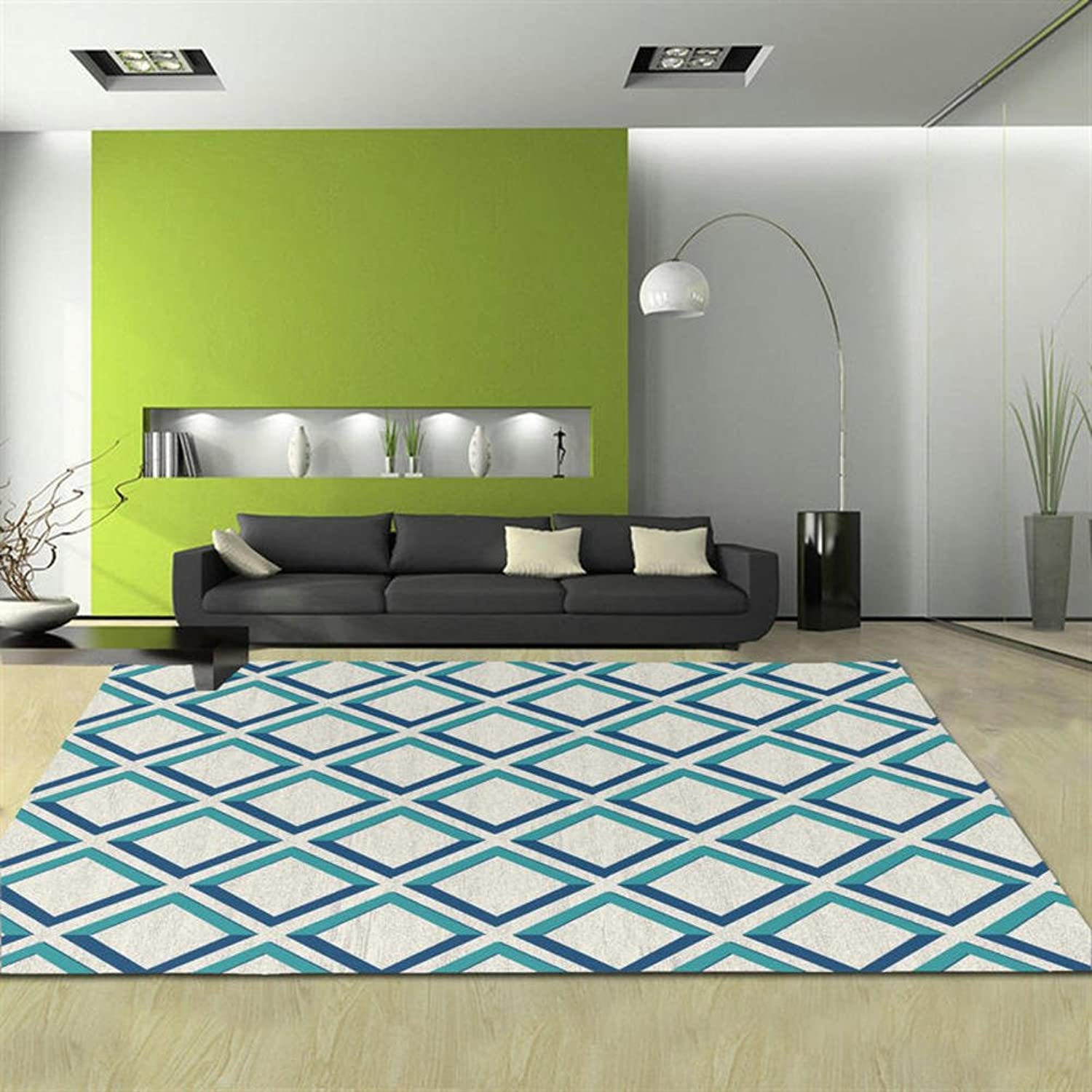 Pattern rectangular carpet mat The carpet for the living room Simple carpet Bedroom Tea table blanket Mats beside the bed-Q 80x150cm(31x59inch)