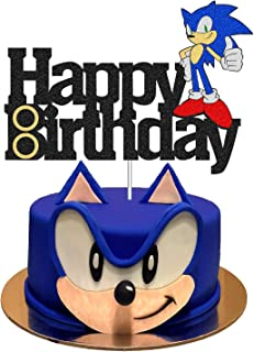 Hedgehog Cake Topper, Decorations for Sonic Cake Topper with Birthday Party Cake Supplies for Birthday, the Blue Hedgehog ...