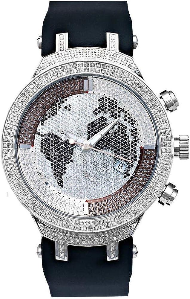 Joe rodeo diamond,orologio cronografo da uomo master silver,cassa in acciaio, antigraffio in cristallo JJM8