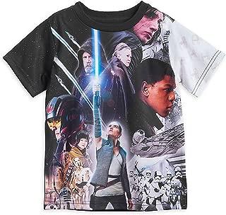 The Last Jedi Cast Sublimated T-Shirt for Kids Black