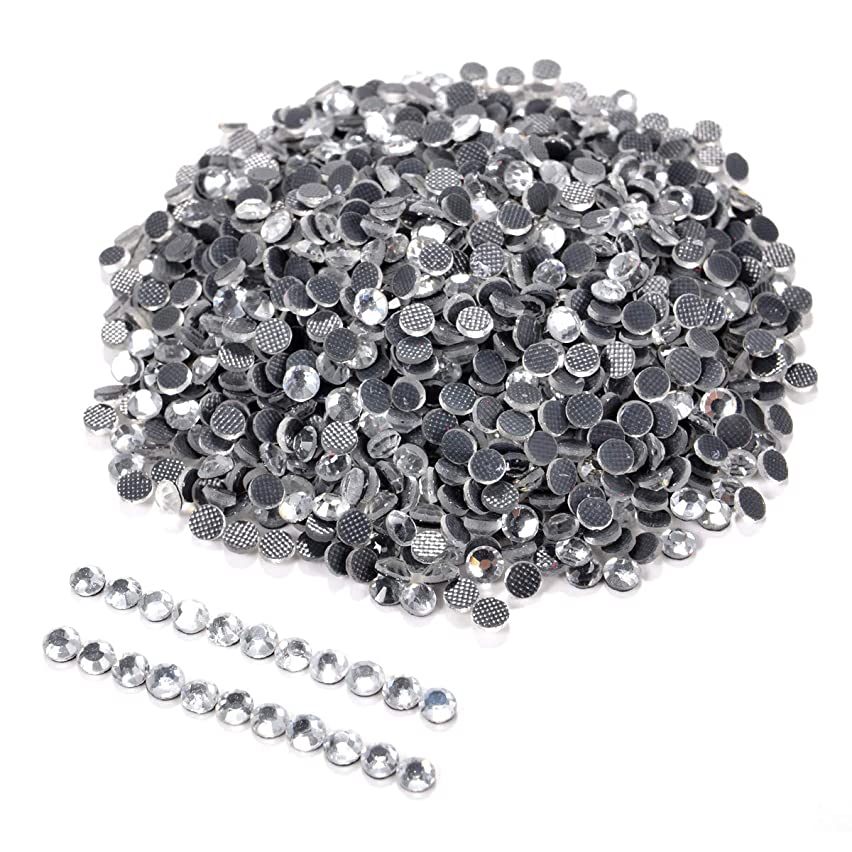 1440pcs ss10 Iron On Hot Fix Rhinestones CRYSTAL Beads 3mm