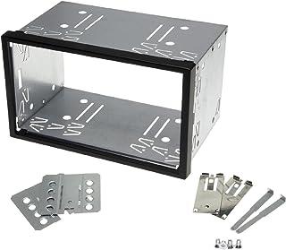 KFZ Auto Radio Blende Halterung Schacht Rahmen 100mm Doppel DIN ISO Universal Metall