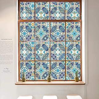 Film De Fenêtre Pare-vue Film vitrail Film auto-adhésif bleu nuages 5,54 €//m²