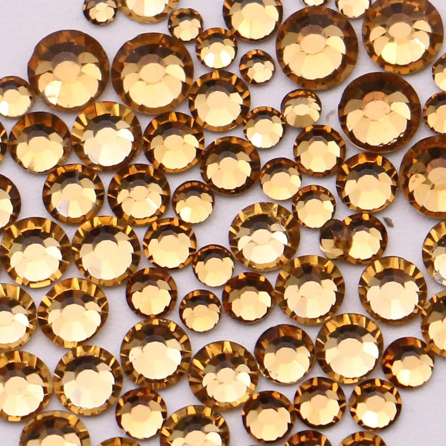 罪人権限島高品質ガラスストーン 6サイズパック SS16 SS12 SS10 SS8 SS6 SS4 (H.ライトブラウントパーズパック)