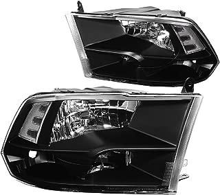 Driver /& Passenger Side DNA Motoring HL-OH-F15092-6P-BK-CL1 Headlight