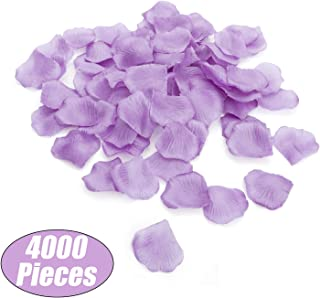 Aspire 4000 Pieces Silk Rose Petals, Artificial Flower Confetti for Wedding Party Gift Decoration-Lavender