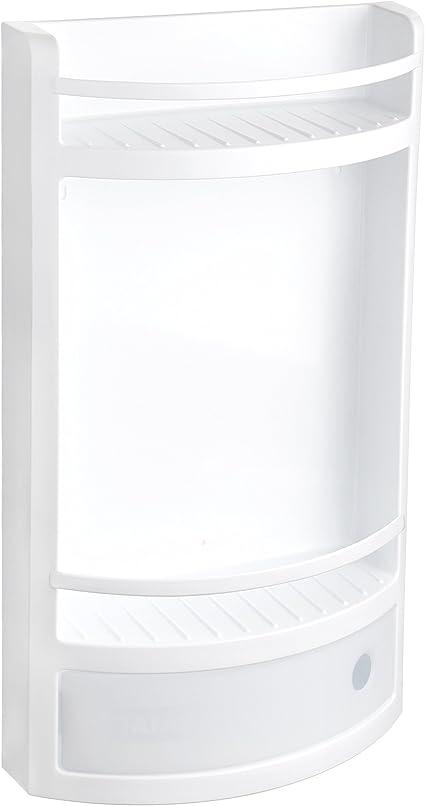 Tatay Estante Plano en Material plástico Blanco, con cajón sin pomo de práctica Apertura. Higiénico y fácil Mantenimiento. Medidas 29x11x51 cm