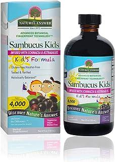 Nature's Answer Bioavailable Sambucus Kids Formula | 4-Fluid Ounces | Kosher Certified Organic Elderberry Syrup | Great Ta...