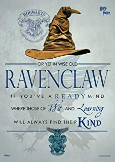 MightyPrint Harry Potter (Sorting Hat Ravenclaw) Wall Art Decor Next Generation Premium Print - Featuring Hogwarts House Quote Poem