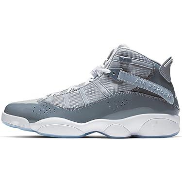 Jordan 322992-015: Men's Cool Grey/White/Wolf Grey 6 Rings Sneakers