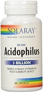 Solaray Acidophilus Plus Carrot Juice 3billion, 60 Count