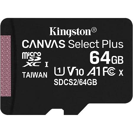 キングストン microSD 64GB 最大100MB/s UHS-I V10 A1 Nintendo Switch動作確認済 Canvas Select Plus SDCS2/64GB 永久保証