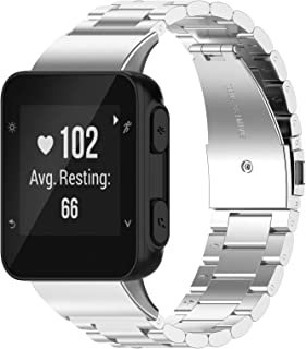 Yikamosi Bands Compatible With Garmin Forerunner 35,Stainless Steel Replacement Smart Watch Bracelet Strap Bands Fit Garmi...