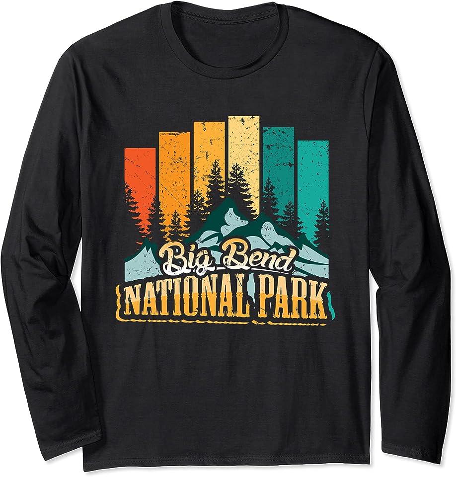 Vintage Retro Big Bend National Park Langarmshirt