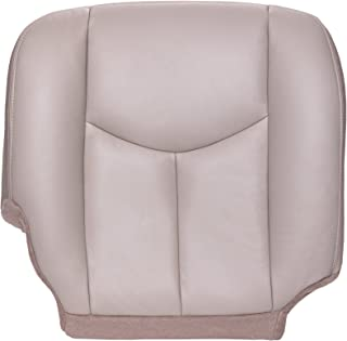 The Seat Shop Passenger Bottom Replacement Seat Cover - Shale (Tan) Leather (Compatible with 2003-2006 Chevrolet Tahoe, Suburban, and GMC Yukon, Yukon XL)