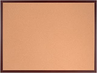60 x 45 cm Kirschen Korktafel mit Executive MDF Rahmen Bi-Office Earth Umweltfreundliche Pinnwand mit Naturkorkschicht