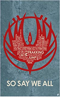 Battlestar Galactica: So Say We All Word Art Print Poster (12