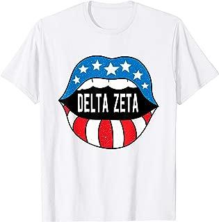 Delta-Zeta Sorority Retro Vintage Greek T-Shirt