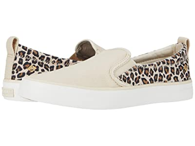 Sperry Crest Twin Gore Animal Print (Tan/Black) Women