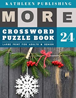 Crossword Puzzles Large Print: crosswords for teenagers | More 50 Easy Puzzles Large Print Crosswords to Keep you Entertained for Hours | christmas snow decoration design (crossword books quick)