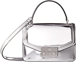 Tory Burch - Juliette Metallic Mini Top-Handle Satchel